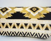 Coupon Organizer Cash Budget Organizer Holder- Attaches to your Shopping Cart  Black and Gold Aztec with Natural Lining