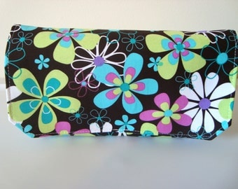 Coupon Organizer Budget Organizer Holder Attaches to Your Shopping Cart Far Out Floral  Coco Brown  OOP Limited  Available