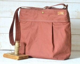 Large Diaper bag WATERPROOF CANVAS / Messenger bag / Women messenger / Travel bag / Spring Fashion / Summer Fashion Vogue