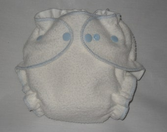 Fitted diaper bamboo zorb with Light blue thread