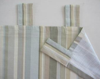 Tab Top Curtain, Multi Striped Cotton Tab Top Curtain 84 long