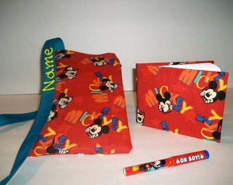 Disney Mickey Mouse Orange autograph book bag with book, bag, and pen PERSONALIZED for FREE adjustable strap