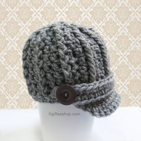 Crochet Pattern Baby Boy Hat Pattern Newsboy Hat pattern