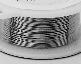 24GA Beadsmith Brushed Silver Color Non-Tarnish  Wire 10 Yards