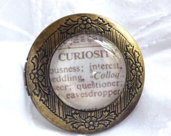 Curiosity Locket Ring