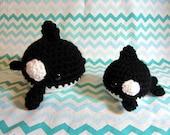 Ready to ship - Crochet - Blob Animal Amigurumi - Marine Mammals - Orca (Killer Whale) - Small & Large size