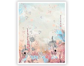 Crystal Lake by Iveta Abolina -  Floral Illustration Print