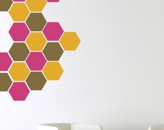 Honeycomb Wall Decals, Bee Wall Decals, Vinyl Wall Decals, Childrens Wall Decals, Hexagon Wall Decals, Honeycomb Wall Art