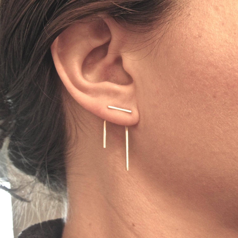 Staple Line Ear Jacket Stud