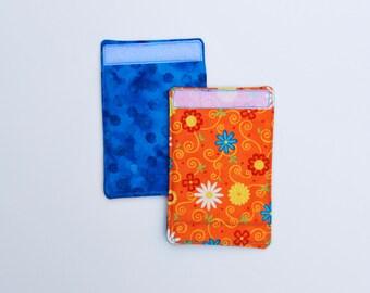 Luggage Handle Wraps set of two reversible Citrus Flowers  traveler teacher gift Quiltsy Handmade