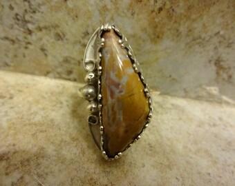 Western Stone Creek Jasper Ring - Size 9 1/4 - FREE RESIZING