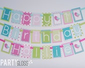 Chevron Girly Bird Birthday Party Banner Decorations Fully Assembled