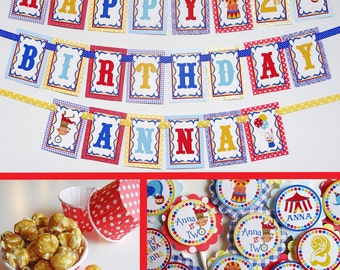 Circus Carnival Birthday Party Decorations Package Fully Assembled