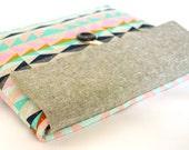 Geometric iPad Clutch iPad Air Case iPad Mini Cover Padded Samsung Galaxy Tab, Custom Tablet Cover - Southwest Triangles
