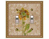 0158a - Subtle Flower Switchplate  - mrs butler (Choose size/price from dropdown)