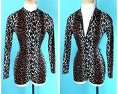 Vintage 1960s Vanity Fair Leopard Romper S/M