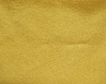 Yellow Hand Dyed Felted Wool Fabric - Hand Dyed - - 100% Wool