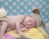 Bunny Rabbit Hat and Diaper cover set Photo Prop