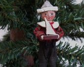 Boy Sailor Cloth Christmas Ornament Named All I Want For Christmas MADE TO ORDER