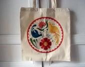 Modern hex signs - tote bag