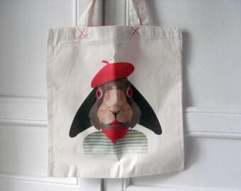 Urban bichos - continental bunny tote bag