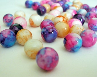 Glass Beads Multi Color 8mm  (20)