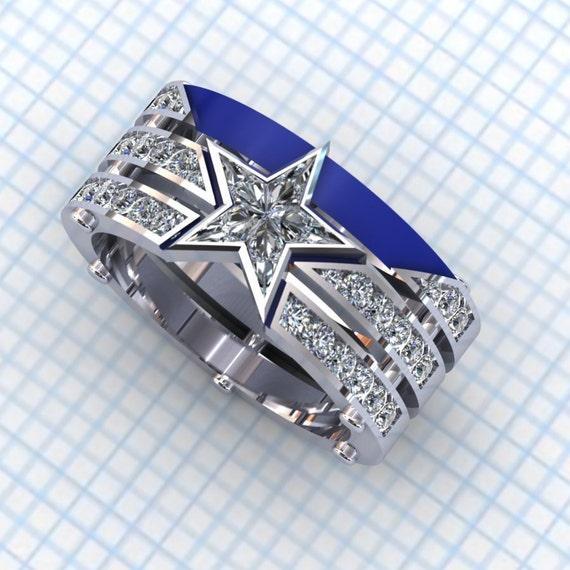 ... Diamond Ring, Star Ring Dallas Cowboys Ring Ladies Diamond Jewelry