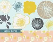 bloom burst editable floral illustrations