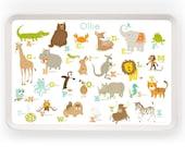 TRAY - Personalized Alphabet ABC melamine tray for kids