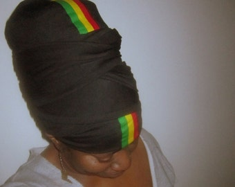 Queeney  Stretch Tam Wrap - Ready Wrap- Headwrap- Dreadlocs Wrap- Stretch Turban- Choose a Height For The Length Of Your Hair -
