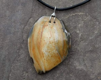 Natural stone necklace - Ribbon stone jewelry ethically sourced and handmade in Australia