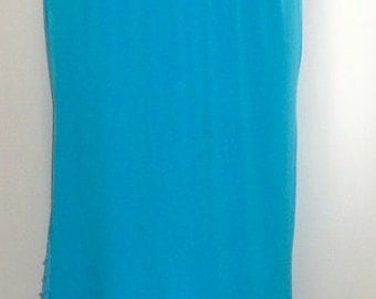 Plus Size Skirt Coco and Juan Plus Size Lagenlook Turquoise Traveler Knit Skirt with Ruffled Trim Size 1 fits 1X,2X