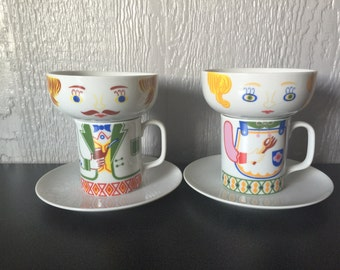 Vintage Mr. & Mrs. Breakfast Set by Seymour Manning Titled Good Morning to You
