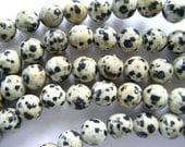 Dalmatian Jasper Beads ,  Gemstone Strand  , Full Strand  , 4mm Dalmatian Jasper , US Seller