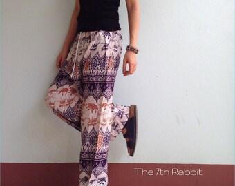 Harem Yoga Pant with Exotic Elephant  Printed