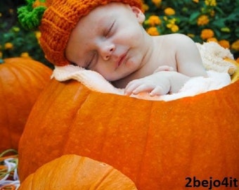 babygirl hat baby boy hat baby pumpkin hat orange hat crochet beanie photo prop