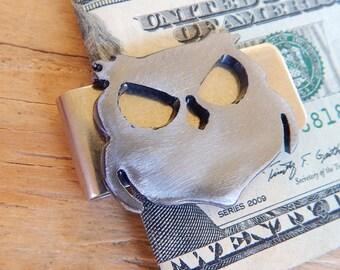 Owl Money Clip / Gift for Best Man / Groomsmen Gift /Wisecracker Outlaw Owl by WATTO Distinctive Metal Wear / Owl Moneyclip / Mens Moneyclip