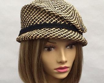 Kelsey, newsboy cap, womens straw hat, millinery hat,