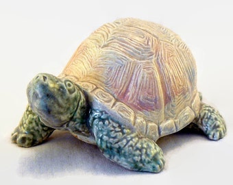 "Ceramic Box Turtle ""On the Move"""