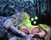 "Original Drawing entitled Sleeping Beauty - Print 11"" X 11"""