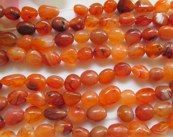 Small to Medium Carnelian Pebbles 6 inches (15cm)