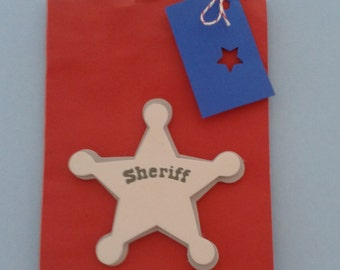 Sheriff party favor bags, kids birthday party,