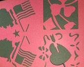 Stencil Art HOLIDAY BOOK Designs by Art Krenz--vintage