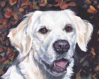 Golden Retriever dog portrait CANVAS print of LA Shepard painting 12x12 dog art