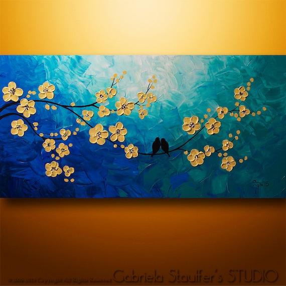 Abstrait arbre peinture peinture d 39 oiseaux asiatique for Peinture murale acrylique
