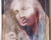 Fiber Art, Wall Hanging, Art Quilt, non-traditional quilt, collage art, fiber collage, Textile art