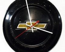 1972 - 1973 Chevy LUV Truck Hubcap Wall Clock - Chevrolet Hub Cap Decor