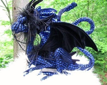 This is Obsidian, a Very Blue ,Royal Shoulder Dragon by Dragontry