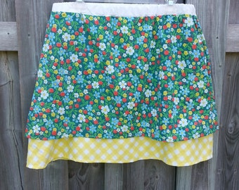 Summer Strawberry A-Line Skirt - With Pockets!
