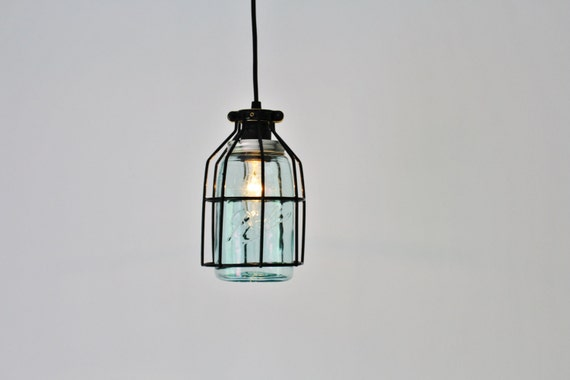 Pendant light black cage hanging pendant lamp antique early like this item aloadofball Image collections